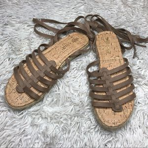 Suede Lace Up Sandals!
